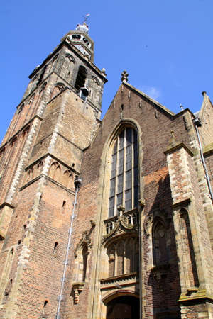 milion: St Johns Church from the 13th century in the city of Gouda. The Netherlands Stock Photo