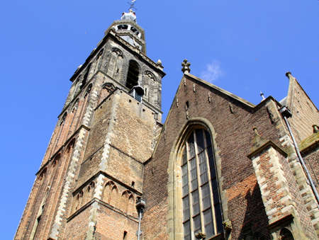 milion: St Johns church from the 13th century in the city of Gouda