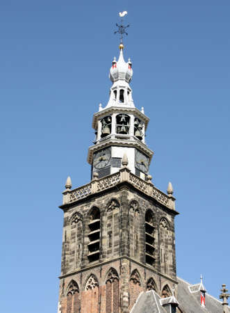 milion: Tower of the St Johns Church (St Johns Church) from the 13th century in Gouda. The Netherlands