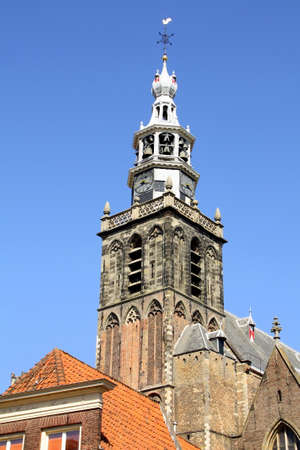 milion: Tower of the St-Johns Church (St Johns Church) from the 13th century in Gouda. The Netherlands
