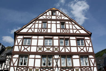 Old timber frame house in Bernkastel. Germany Stock Photo