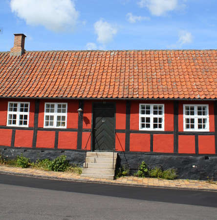 Old timber frame house on the island of Bornholm. Denmark