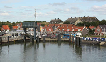 The harbor of the island of Vlieland. the Netherlands