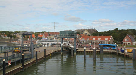 The harbor of the island of Vlieland. The Netherland