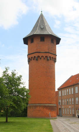 Old water tower from 1912 in Nyk�bing on the island Falster. Denmark