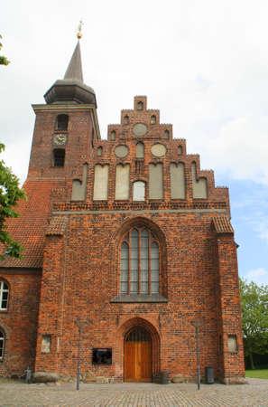 Klosterkirken from the 15th century in Nykøbing on the island Falster. Denmark