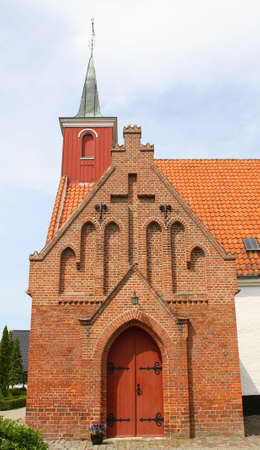 Kariby Kirke from the 13th century in Nykøbing on the island Falster. Denmark