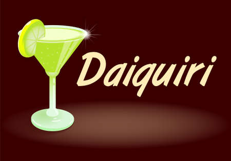 Fresh ice frozen alcoholic drink bar cocktails Daiquiri The most-ordered rum drink in the world fruity favorite is made with lime juice white rum and sugar syrup shaken then served abstract background