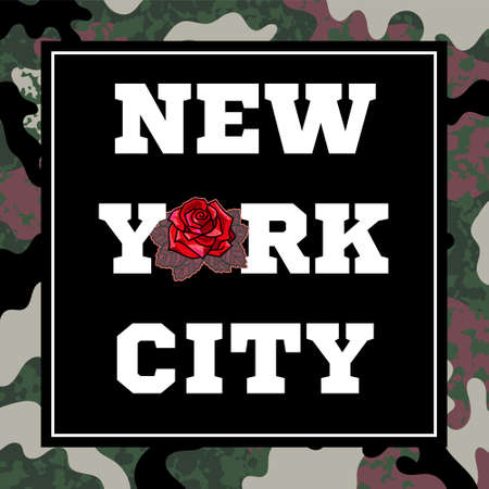 Graphic design colorful seamless pattern with different elements from New york city like buildings graffiti boombox for fashion trendy textile print t shirt sweatshirt accessories poster sticker. Stock Illustratie