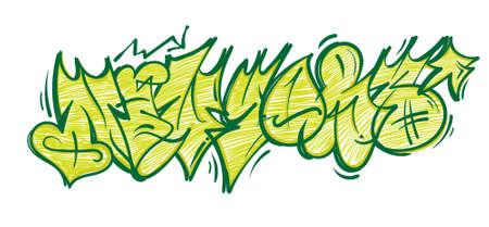 Street wild fast flop style graffiti New york which made aerosol paint on wall. Urban life hip hop culture print for t shirt poster sticker sweatshirt streetwear brands underground illustration.