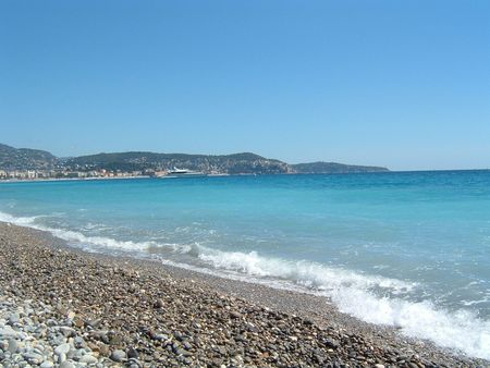 mediteranean: Mediteranean See at Nice Stock Photo