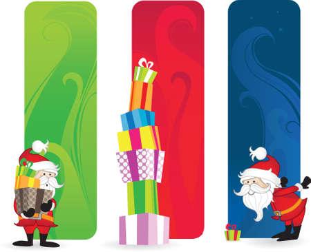 Santa Claus Label Vector