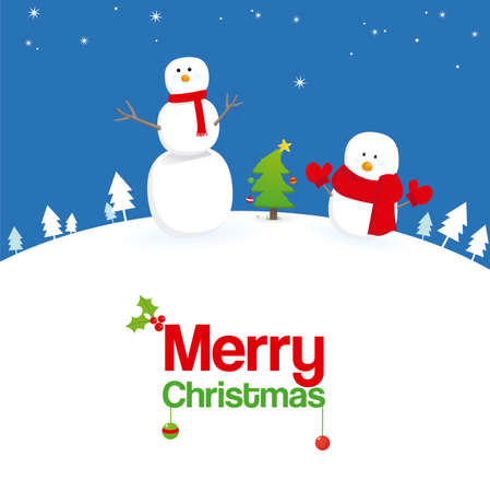 mr: Mr. and Mr. Frosty Snowman greeting