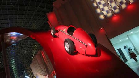 Ferrari World at Yas Island in Abu Dhabi. Legendary retro cars Ferrari. Editorial