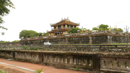 Imperial Royal Palace of Nguyen dynasty in Hue, Vietnam. Stock Photo