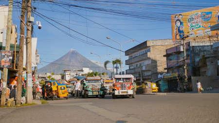 Legazpi, Philippines - January 5, 2018: Public transport at the street of Legazpi. Editorial