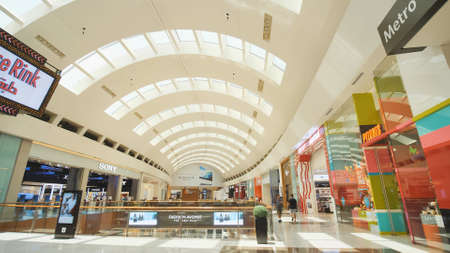 Dubai, UAE - May 15, 2018: Dubai Mall is one of the largest shopping centers in the world.