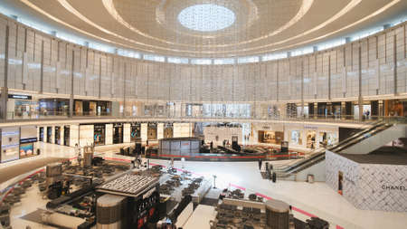 Dubai, UAE - May 15, 2018: Dubai Mall is one of the largest shopping centers in the world. Redakční
