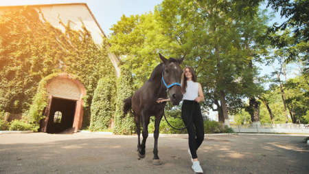 17 year old girl with her beloved horse.