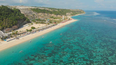 Aerial view Pantai Pandawa beach in Bali. Indonesia.