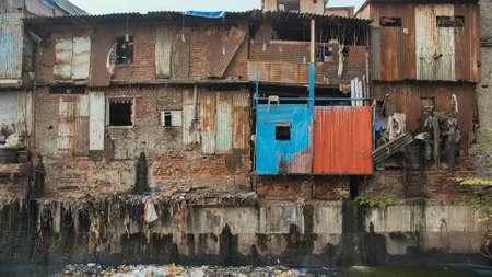 Dharavi slums in east Mumbai. Bandra District, Maharashtra, India
