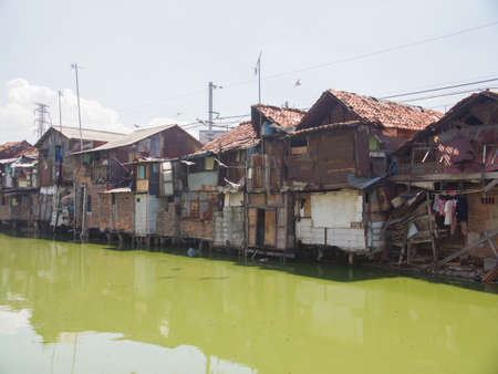 The slums of Jakarta are the capital of Indonesia.