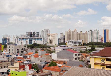 Panorama of the city of Jakarta - the capital of Indonesia. 版權商用圖片
