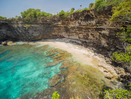 Broken Beach In Nusa Penida, Indonesia. Aerial view. 写真素材