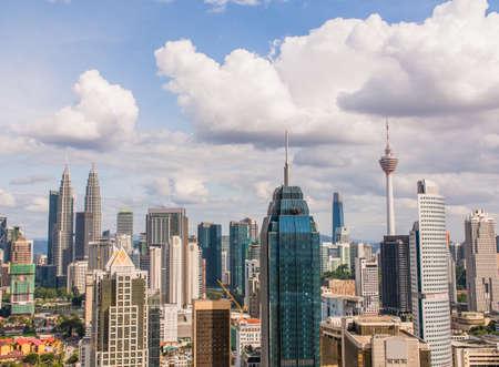 Panorama with skyscrapers in the capital of Malaysia, Kuala Lumpur. Standard-Bild