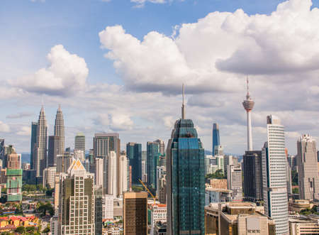 Panorama with skyscrapers in the capital of Malaysia, Kuala Lumpur. Reklamní fotografie