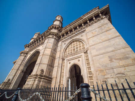 The legendary architecture of the Gateway of India in Mumbai.