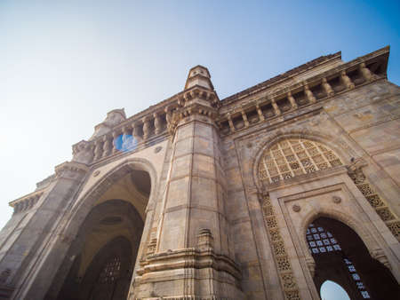 The legendary architecture of the Gateway of India in Mumbai. Stock Photo