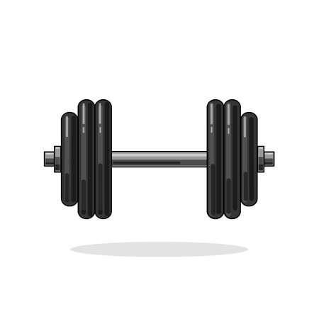Vector illustration of a dumbbell on an isolated background.