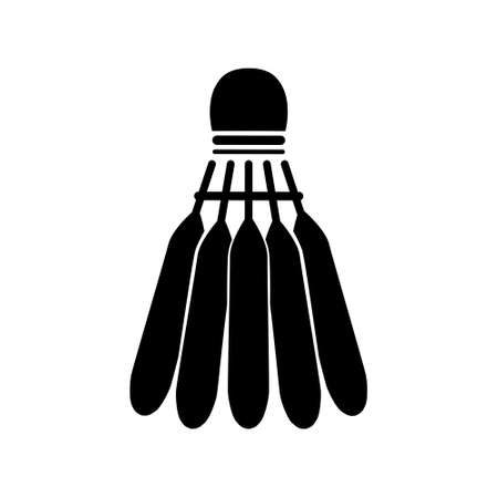 Shuttlecock icon, badminton, sports vector design on a white isolated background.