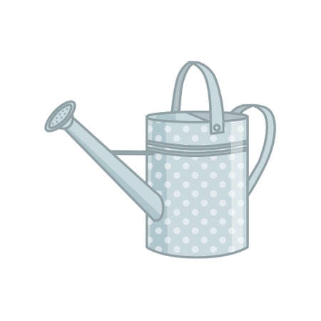 Metal watering can for the garden, isolated on a white background. Vector illustration.