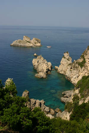 Coast scenery, Corfu Greece photo