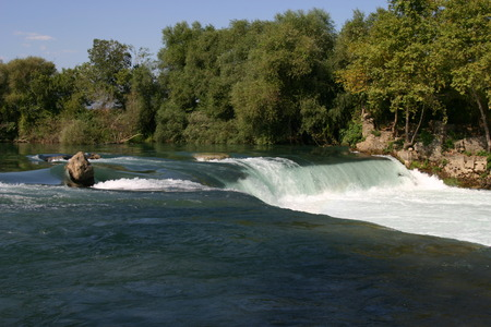 Waterfall on the river Manavgat, Turkey  photo