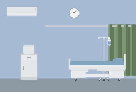 habitación del hospital y el equipo médico