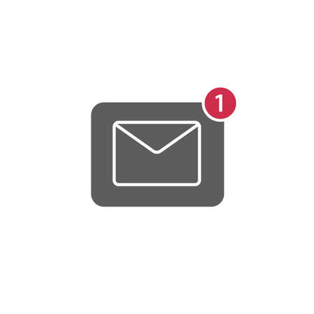 notification: Flat Design of New Message Notification Icon