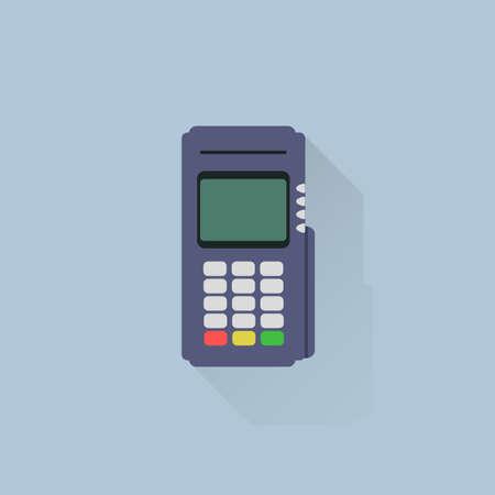 merchant: Flat Design of EDC (Electronic Data Capture) Illustration
