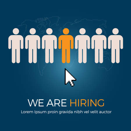 job vacancy: Select The Best Person From Group Of Human Icon For The Job Vacancy
