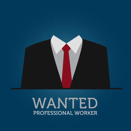 Hire A Professional Worker Announcement Illustration