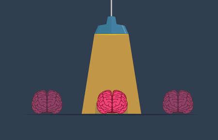 A Special Mind Illustration, Brain under a beam of light Illusztráció