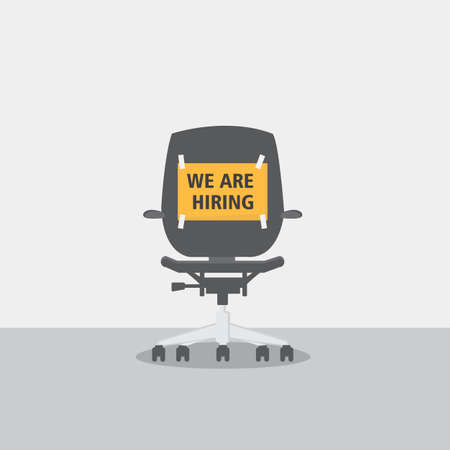Chair With Job Vacancy Sign Concept Illusztráció