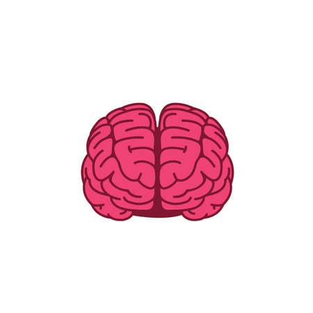 Flat Design Of Brain, Mind Illustration Illusztráció