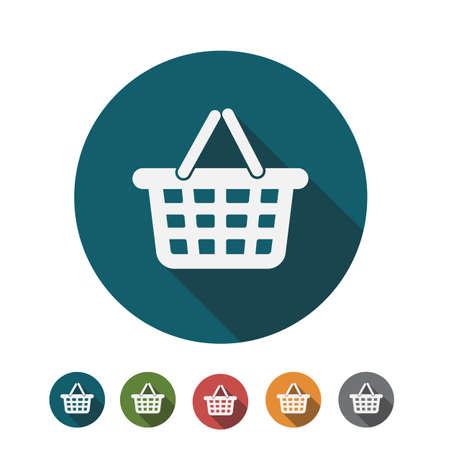 Flat Design of Shopping Cart Icon Illusztráció