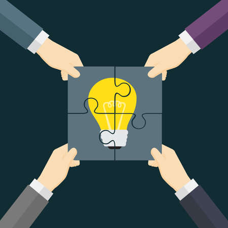 TeamWork Make Idea Come True Illustration