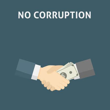 Handshake with money. Corruption Concept Illustration Illusztráció
