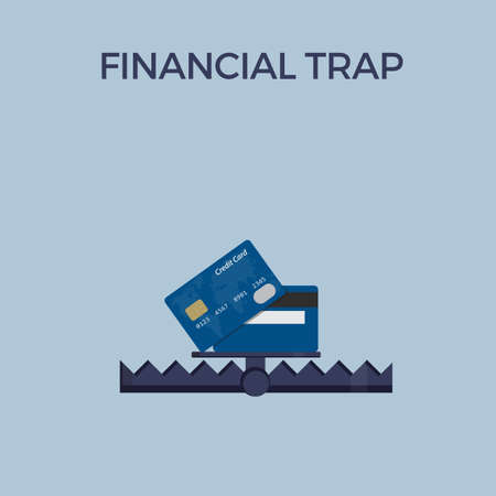 Financial Trap Illustration, Debt Trap