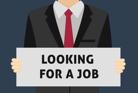 Looking For A Job Illusztráció
